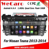 Wecaro WC-NT8061 Android 4.4.4 car dvd player touch screen for nissan teana android car dvd android A9 cpu 2013 2014 2015
