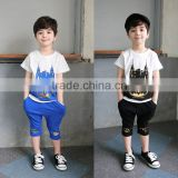 2015 Wholesale carters baby clothes cotton soft top and pants boy kids casual clothing sets