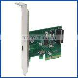 Desktop PCI Express x4 to Single USB3.1 Type C Converter Adapter 10Gbps USB 3.1 Type-C port PCIe Controller Card