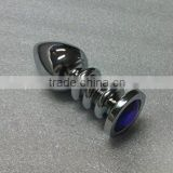 Anus bolt butt plugs masturbation anal plugs High quality Metal Screw thread for gay Anal Sex Toy Sex product for male&women
