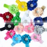 Pick any one - 5 inch Large Chiffon Flower Headband - Crochet Headband - Newborn - Infant - Baby Girl - Toddler - Photo Prop