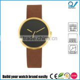 Newest design PVD brass color stainless steel case special design second ticker vogue design watches