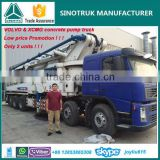 VOLVO truck mounted XCMG used concrete pump truck for sale