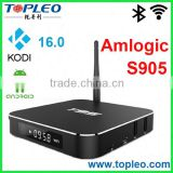 Amlogic S905 Quad Core T95 TOPLEO Android 5.1 Kodi 16.0 Box Amlogic S905 ott remote control android tv box