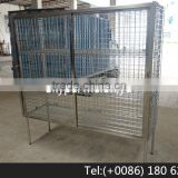 Stainless Steel 304 Sliding Door Wire Shelving Security Cage/Rack with Square Tube Frame