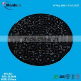 F-HASL large LED MCPCB Big size black round led mcpcb plate