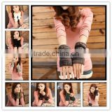 Button Warmers gloves - womens Fingerless Gloves - wrist warmers - texting gloves 7 colors at stock