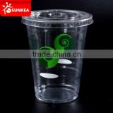 Disposable clear PET plastic cups with flat lid, Smoothie plastic cups with simple logo                                                                         Quality Choice                                                     Most Popular