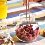 high quality glass candy pot with unique design,glass candy jar, glass sugar pot best price