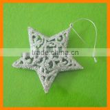 Silver Christmas Star, Christmas Tree Ornament