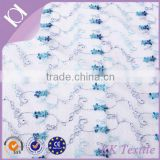 60% cupro 40% silk twill embroidery fabric for italian wedding gown
