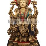 Sitting Goddess laxmi with Jewellery 19""