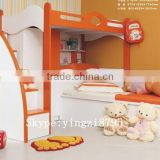 kid combination bedstead kid bunk bed small closet Children bedroom ark of ladder Children's double bed