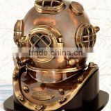 18 inch Brass diving helmet with 12 kg weight also wooden base