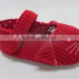 Knitting upper baby shoes comfortable baby maryjane prewalker cutie animal bootie