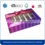 custom high quality packaging box with window and plastic insert