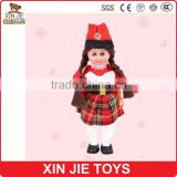 customize plastic doll wholesale good quality plastic doll with scotland costume nice design plastic doll