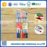 Promotional water color pen with double side in art markers into PVC bag for child