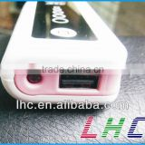 4400mAH power bank and battery charger for mobile phone / mp4 / mp3 / iphone / ipod brand new high quality
