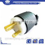 Brand-new Top Safety solid power plug brass pin/Straight Blade NEMA 6-15P plug/industrial power plug 15A 250V