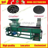 China best coal gangue lump charcoal crusher and mixer with conveyor manufacturer