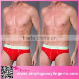Wholesale Red Classic Modal Stretch Mens Brief sexy men underwear men transparent underwear boxer