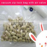High Quality Vacuum Zip-lock Bag With Air-valve