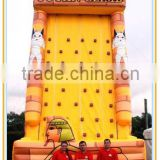top seller good quality inflatable climbing wall tutan climb, outdoor sport game inflatable rock climbing wall