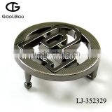 2015 new design overseas popular 35mm zinc alloy buckle two-chain buckle for men LJ-352329