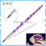 ANY Cheap Acrylic Handle Pure Kolinsky Acryl Nail Art Brush