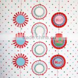 Paper Christmas Crafts Christmas Rosette Banner Decoration