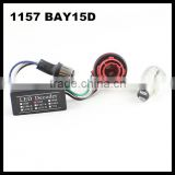 BAY15D 1157 S25 Canbus LED Light Bulb Warning Decoder Load Resistor Socket Error Fit For BMW car-styling