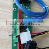 New PCI-E Express 1X to 16X Riser Card +USB 3.0 Extender Cable for Bitcoin Mining 60CM/100CM