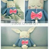 Fashionable design of crochet bunny baby girl stuffed toys