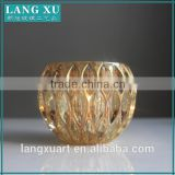 LX-Z205 crystal glass electro plating gold votive candle holder                                                                         Quality Choice                                                     Most Popular