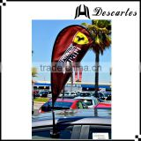 High quality promotional flying flags, outdoor decorative teardrop flags for advertising