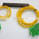 Fiber Optic Splitter Coupler With Pigtails Steel Tube Package Or Box Package Single Mode Multi Mode Fiber Optical Splitter