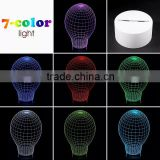 3D Optical Illusion Ball Ballet Night Lamp Night Light 10 Colorful LEDs Ultra-thin Acrylic Light Panel AA Battery or DC 5V