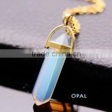 2016 Fashion Bullet Quartz Amethyst Opal Fluorite Reiki Chakra Colar Choker Natural Stone Necklaces Pendants
