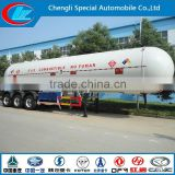 New Tri axle oil tanker trailers 50000 liters liquid gas petroleum tank semi trailer used truck lpg tanker semi trailer