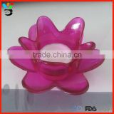 Multicolor available decorative tableware with candle lotus flower shape glass tealight candle holder