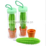 Creative gift cute potted spike pen cactus shape ballpoint pen