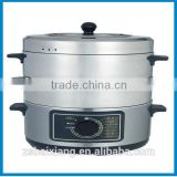Stainless steel 2014 hot sale big capacity electric food steamer