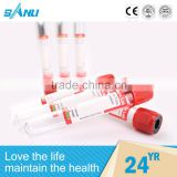 CE and ISO approved disposable test tube vacuum blood collection tube