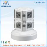 ME-S2 wholesale two layer electrical plug socket/ vertical tower extension socket outlet with 4 usb port and 1M cable length