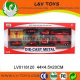 Sliding Alloy Fire Set Metal Model Car Die-cast Car Toys for kids
