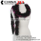 Leading Supplier CHINAZP Wholesale High Quality Dyed Black with Hot Pink Colorful Marabou Feathers Boas