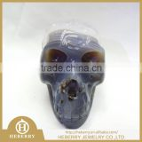 Natural amethyst carved alien crystal skulls wholesale with geode good for home decoration or gift to friends