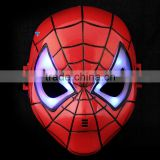 Hot sale popular LED Spider Man mask for party ,Cool Luminous LED Spiderman Mask for Halloween