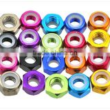 M2-M5 Aluminum nut/colored hex lock nut